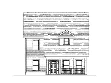Narrow Lot Home Design, 058H-0020