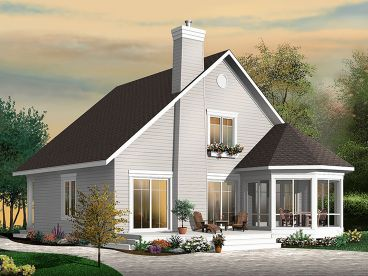 Narrow Lot House Plan, 027H-0413