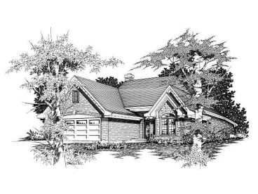 Ranch Home Design, 061H-0045