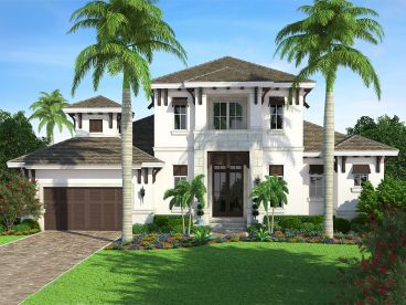 West Indies Home Plan, 037H-0221