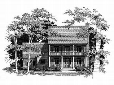 Colonial House Plan, 030H-0067