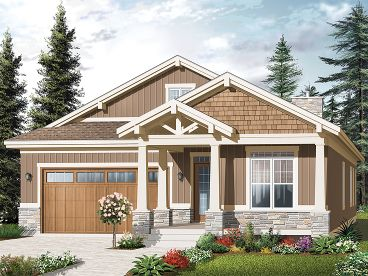 Bungalow Home Plan, 027H-0248