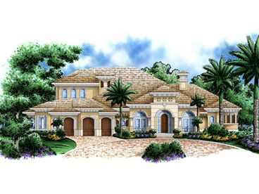 Permier Luxury House Plan, 037H-0161