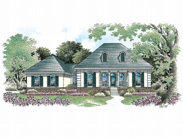 Stucco Home Plan, 021H-0047