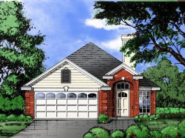 Narrow Lot Home Design, 015H-0036