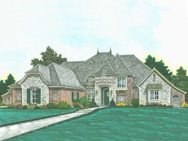 European House Plan, 002H-0120