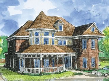 Victorian House Plan, 054H-0026