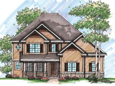 Two-Story Home Design, 020H-0215