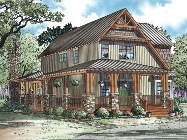 Narrow Lot House Plan, 025H-0257