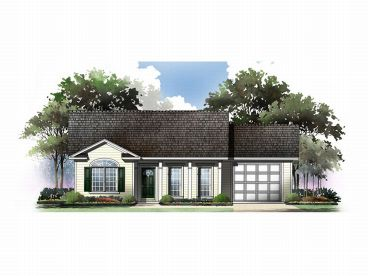 Traditional House Plan, 001H-0010