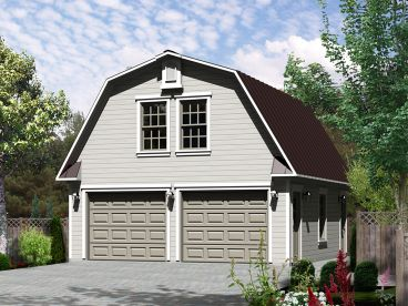 garage plan with studio apartment 072g 0032 - Garage House Plans