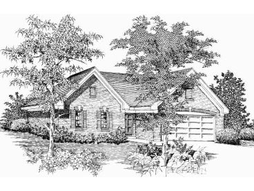 Small Traditional Home, 061H-0028