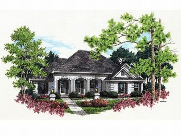 Sunbelt Home Plan, 021H-0077