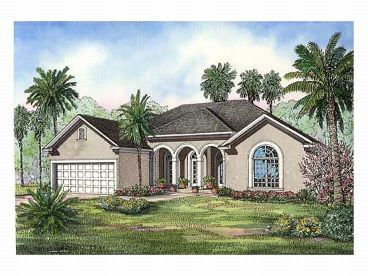 Stucco Home Design, 025H-0118