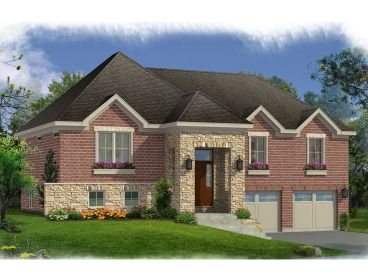Split-Level House Plan, 046H-0115