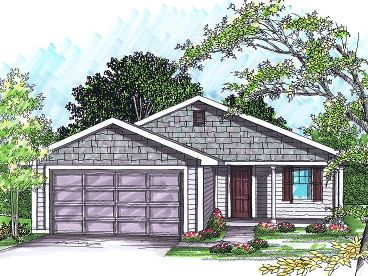 Small Ranch House Plan, 020H-0229