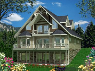 Mountain House Plan, 012H-0134
