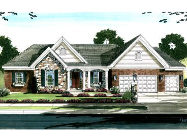 Ranch House Plan, 046H-0130