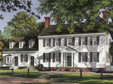 Colonial Home Design, 063H-0091