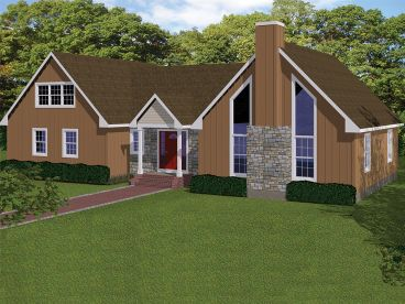 Two-Story Home Plan, 068H-0033