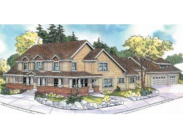 Corner Lot House Plan, 051H-0156