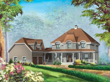 Country European House Plan, 072H-0242