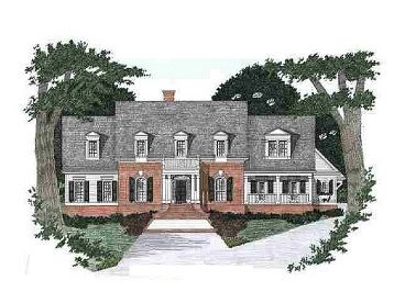 Colonial House Plan, 045H-0030