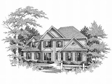Two-Story House Plan, 019H-0084