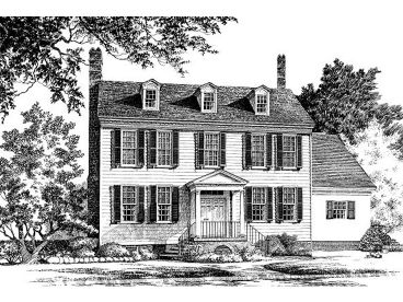 Colonial House Plan, 063H-0032