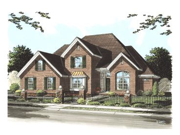 European House Plan, 059H-0082