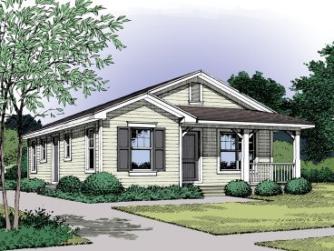 Narrow Lot House Plan, 043H-0005