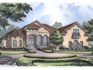 Mediterranean Home Plan, 043H-0211