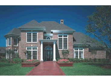 Luxury Home Plan Photo, 031H-0154