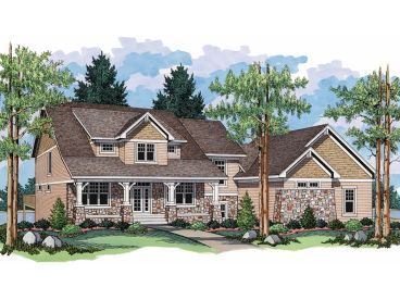 Country Craftsman Home, 023H-0113