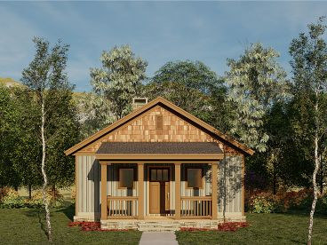Vacation Cabin Plan, 025H-0352
