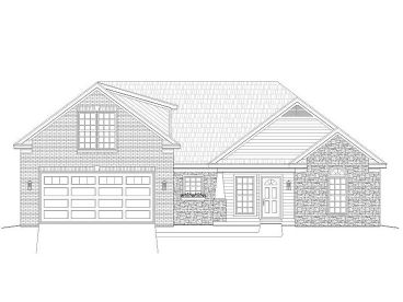 Ranch Home Plan, 062H-0083