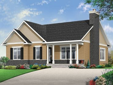 Narrow Lot House Plan, 027H-0423