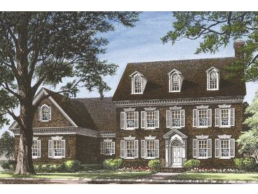 Colonial House Plan, 063H-0162