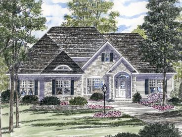 European House Plan, 014H-0081