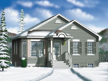 Empty-Nester Home Plan, 072H-0033