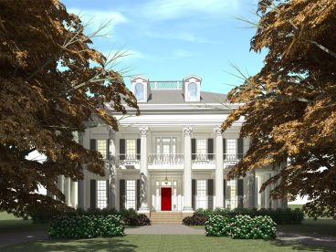 Southern Colonial Home Plan, 052H-0073