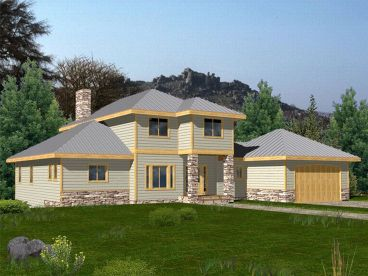 Contemporary House Plan, 012H-0046
