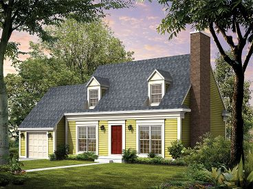 Cape Cod House Plan, 057H-0016