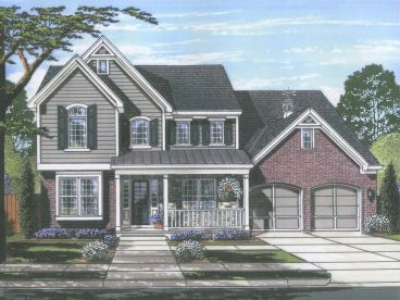 Country Traditional House Plan, 046H-0140