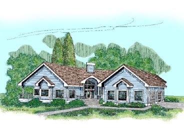 One-Story Home Plan, 013H-0022