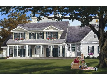 2-Story Home Plan, 063H-0210