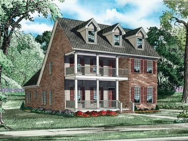 2-Story Home Plan, 025H-0180