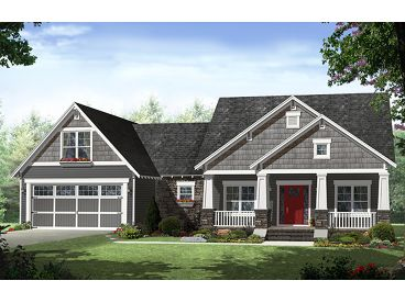 Craftsman House Plan, 001H-0182