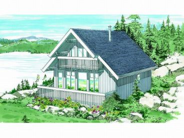 Waterfront Home Plan, 032H-0006