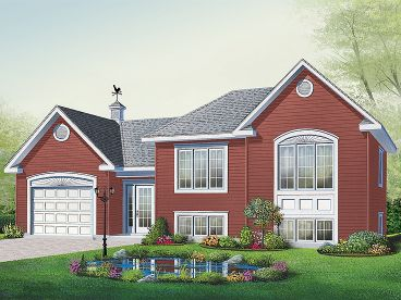 Split-Level House Plan, 027H-0304